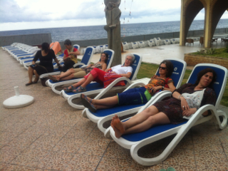 Relaxing at Copa Cabana Mirimar