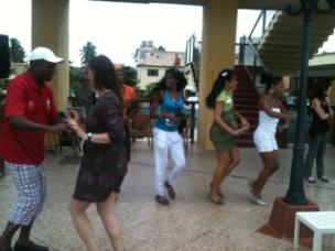 Dancing at Copa Cabana