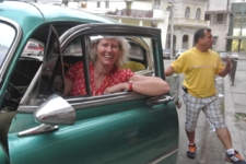 Angie in the Taxi havana